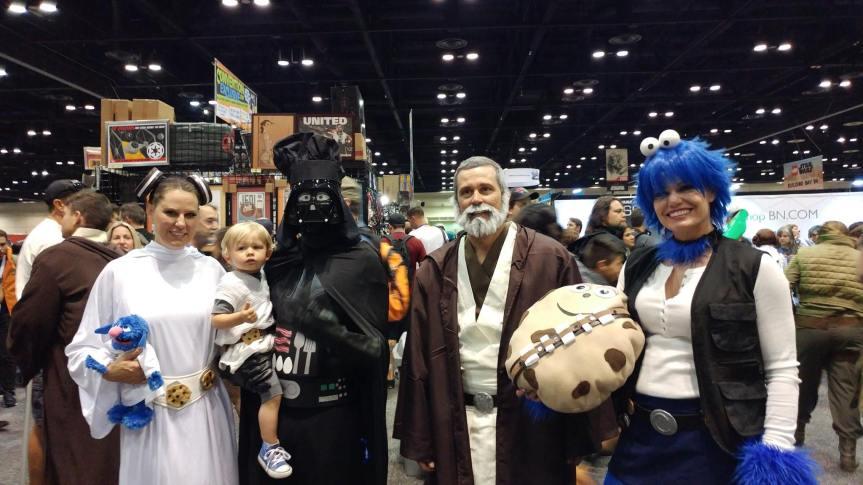 Sesame Street Star Smores Cosplay Group at Star Wars Celebration
