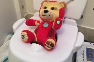 Build a Bear Iron Man bear on the potty