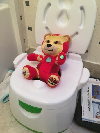 Build a Bear Iron Man bear on the potty
