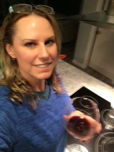 A glass of wine for the cook