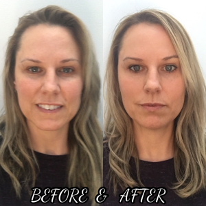 Before and After make-up