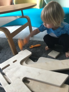 toddler hammering