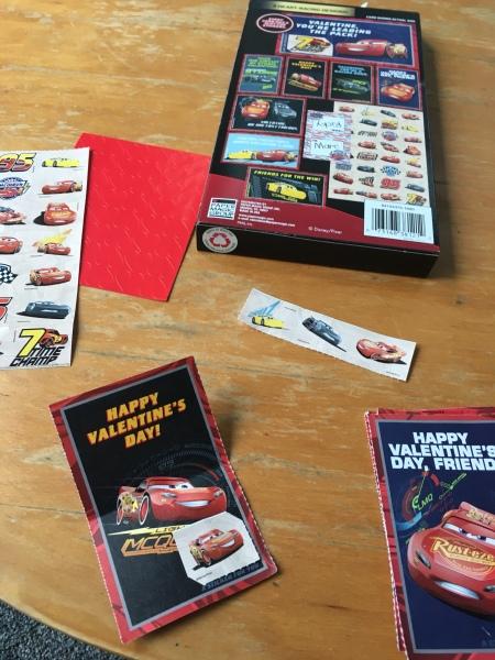 Cars Valentine Cards for kids