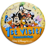 first time disney button