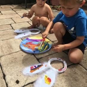 easy toddler easter art project painting bunny ears