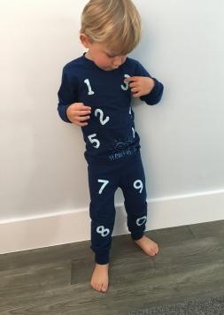 heart of joy pajamas numbers PJ