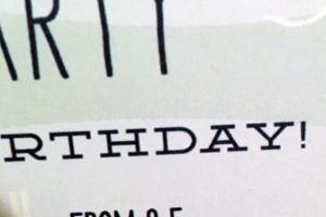no gifts please birthday invitation