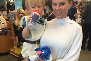Princess Parfaita and Luke Piewalker from Sesame Street Star S'mores