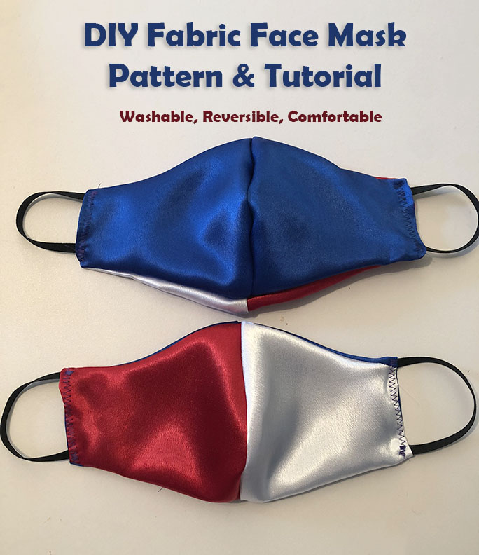 DIY face mask pattern and tutorial