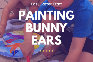 Easy Easter art craft painting bunny ears