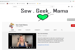 SewGeekMama Youtube Channel