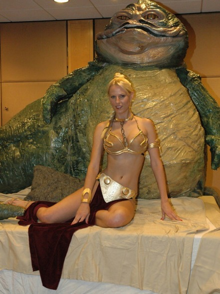 Candy Keane slave leia and jabba