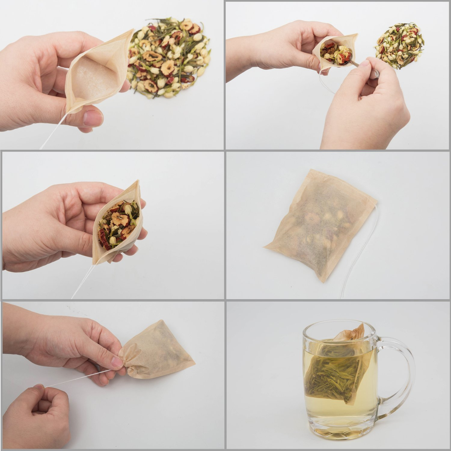 Tea bags for loose leaf tea