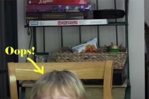 Unboxing video with toddler