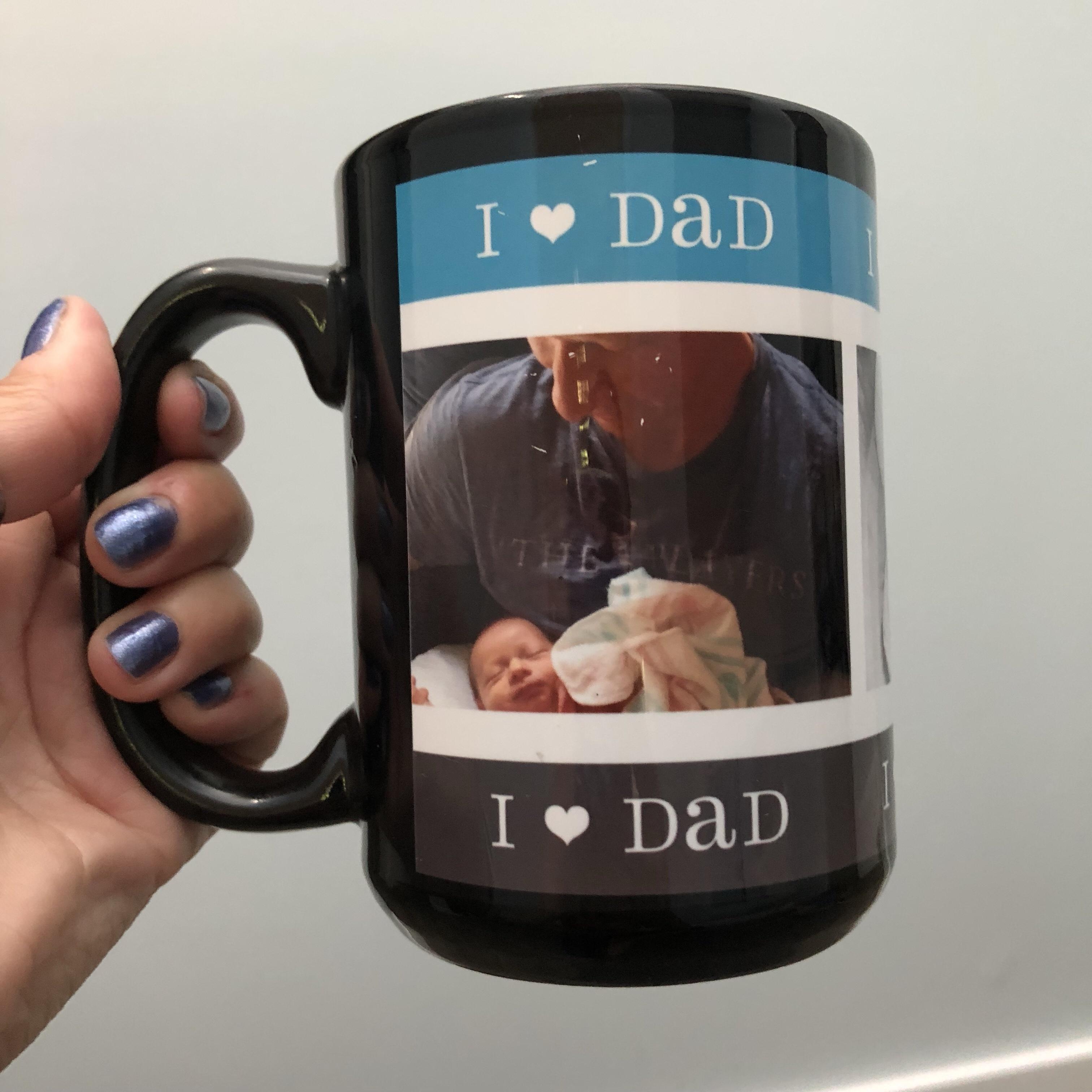 gift for dad photo mug