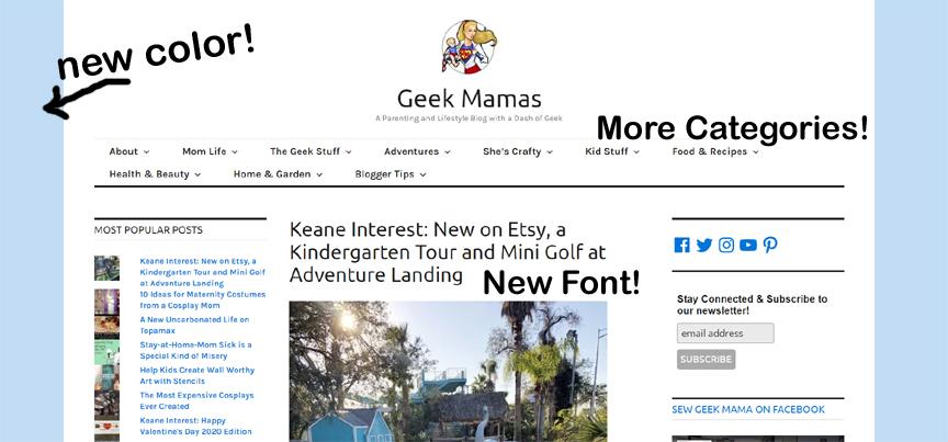 geek mamas blog improvements