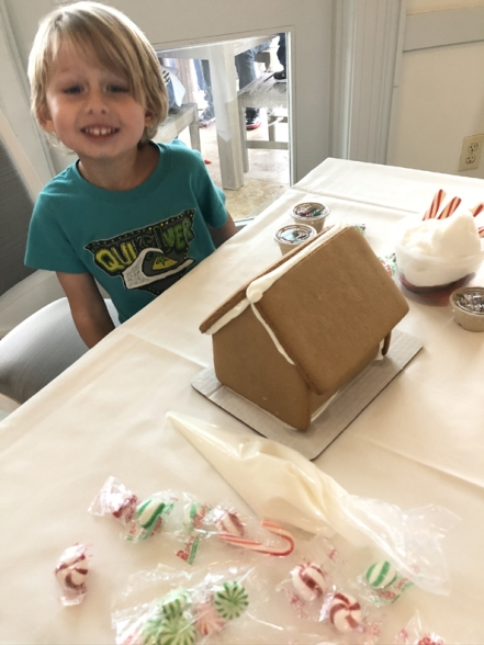 GINGERbread-house-making