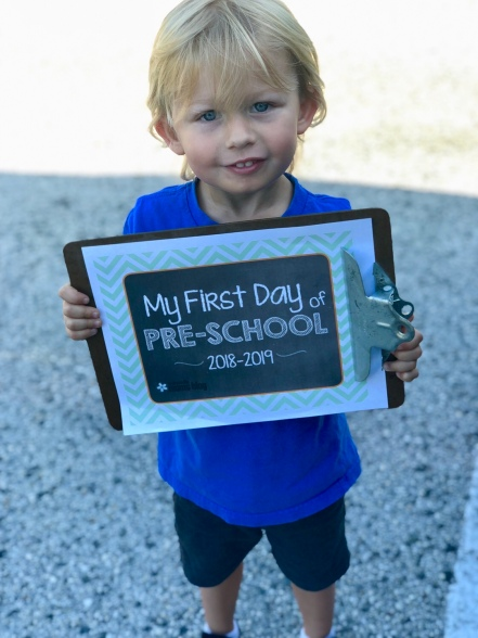 3 Years Old, First Day of Pre-K