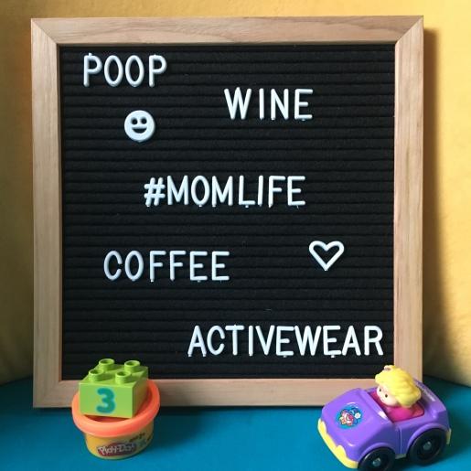 mom life felt letter board