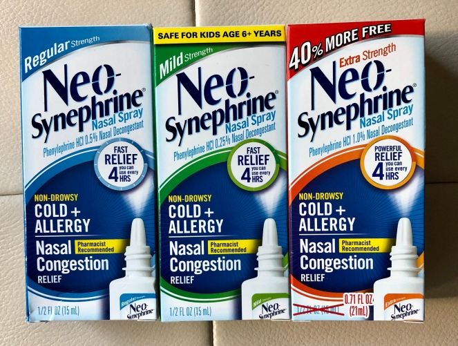 Neo-Synephrine nasal spray