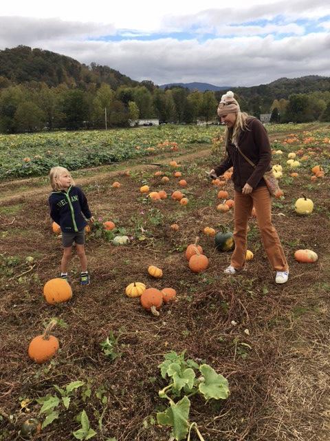 pumpkin picking at darnell farms