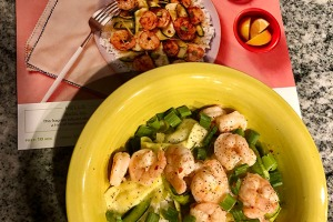 Hello Fresh Shrimp and Zucchini Ribbons