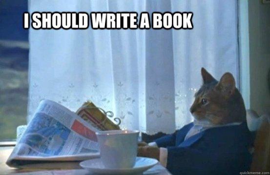 i should write a book cat
