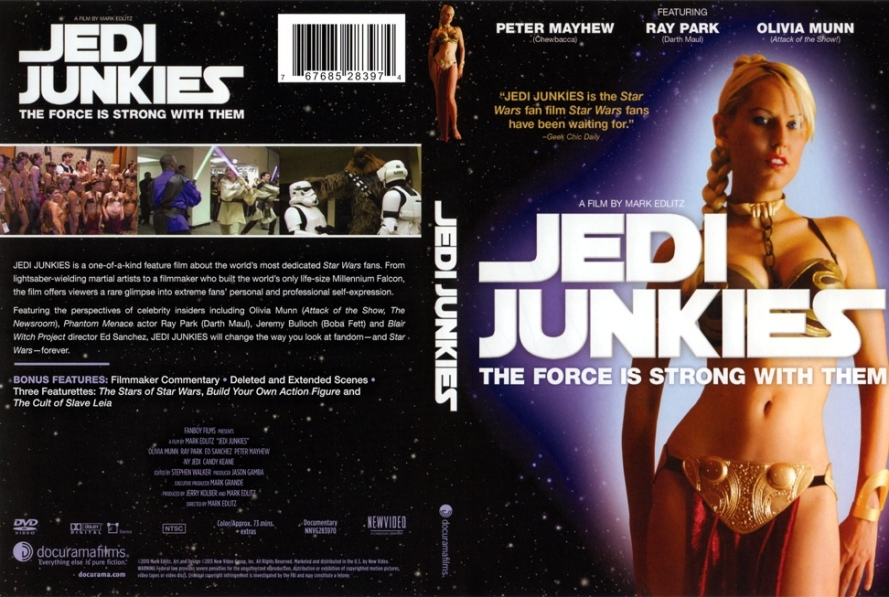 Jedi Junkies DVD Cover candy keane