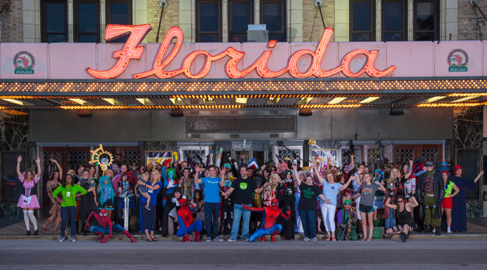 WasabiCon attendees gathered outside Florida Theater. Photo by Red Velvet Photography