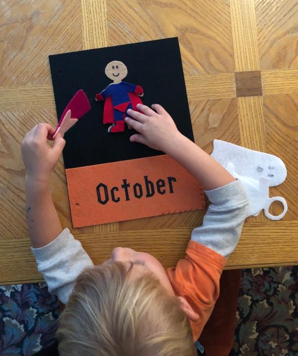 October Quiet Book Page