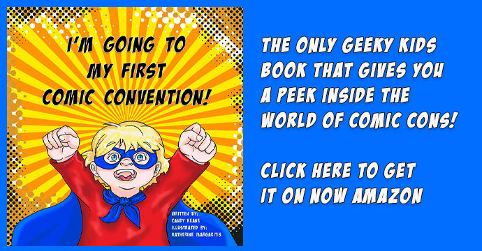 Geeky Kids book I'm going to my first comic con