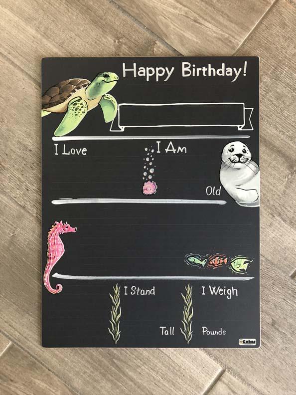 Birthday Milestone Chalk Board