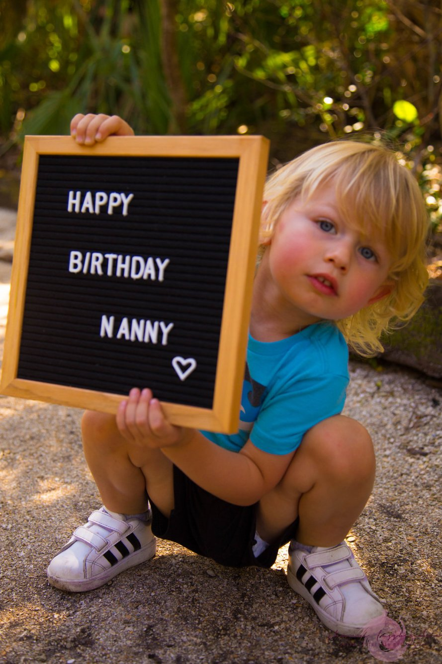 happy birthday on letter board