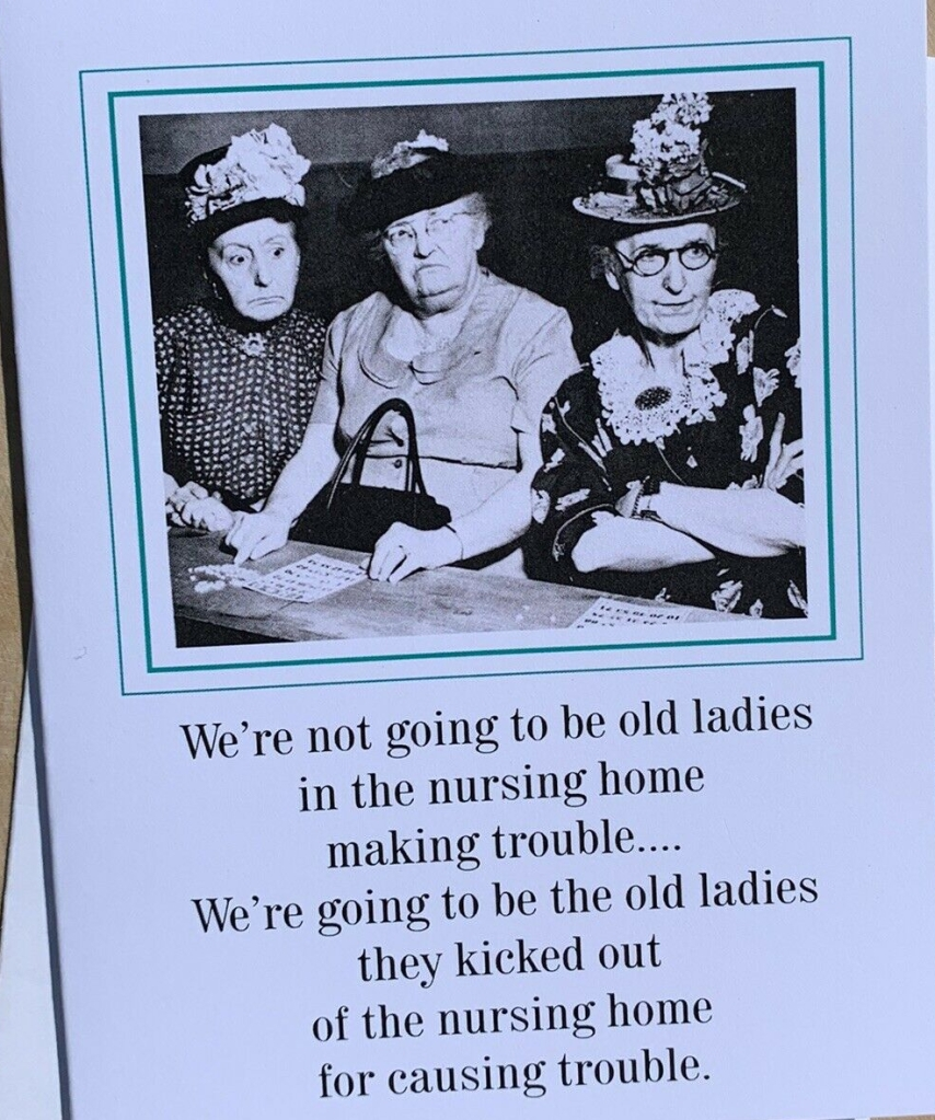 Funny old lady card