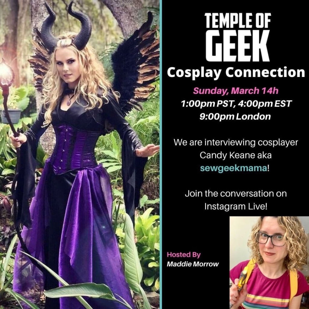 cosplay connection interview with Candy Keane on instagram live