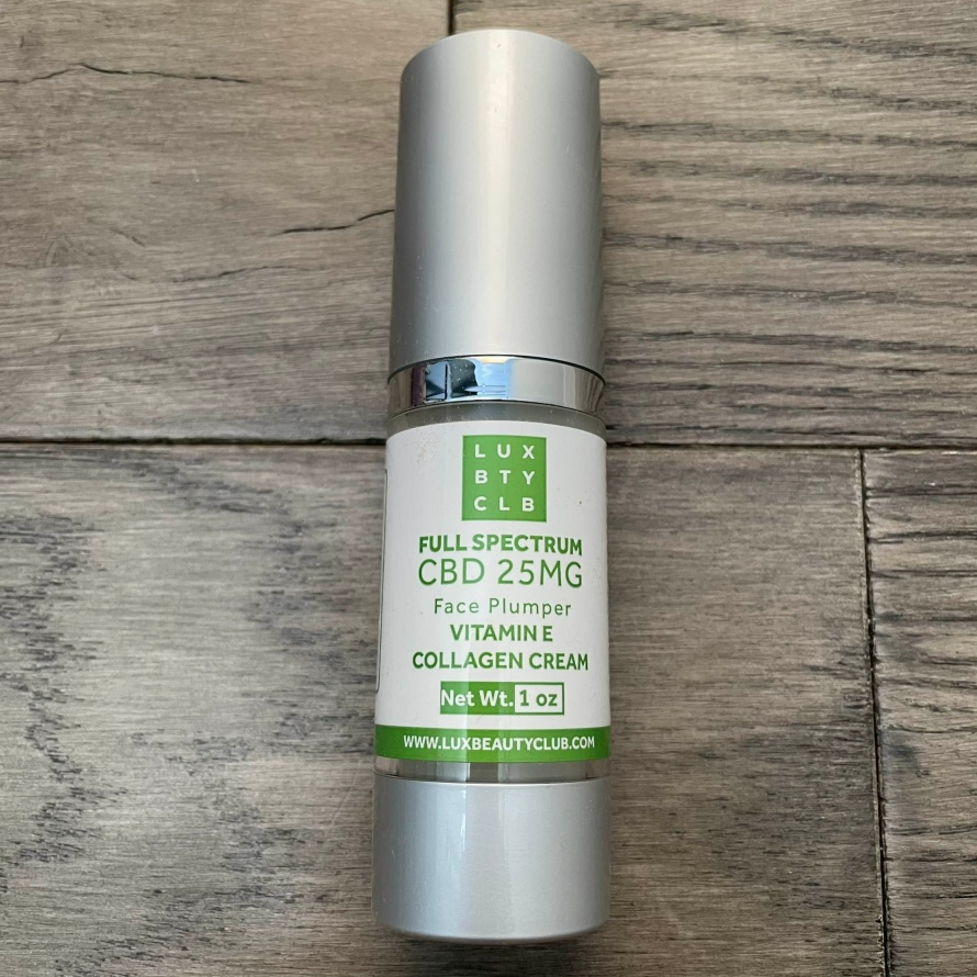 cbd face plumper collagen cream full spectrum vitamin E