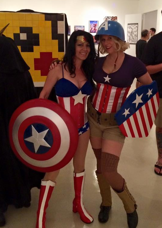 candy keane captain america cosplay and wonder cap