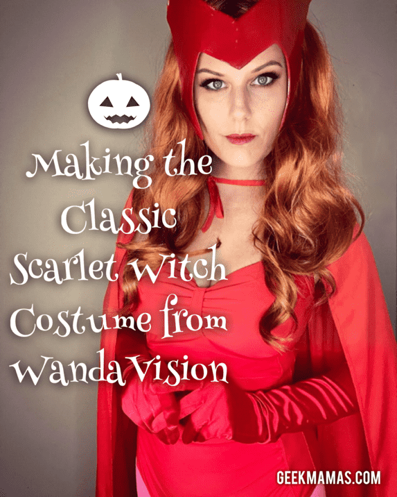 Making the classic wandavision scarlet witch costume cosplay