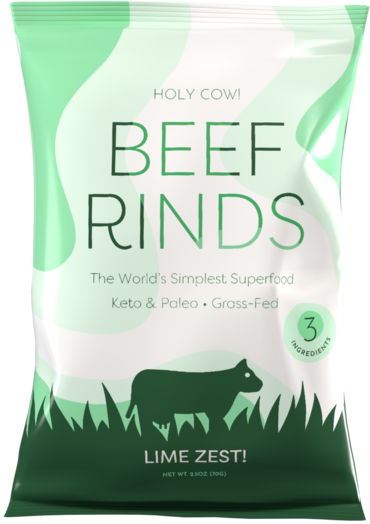 holy cow beef rinds lime zest