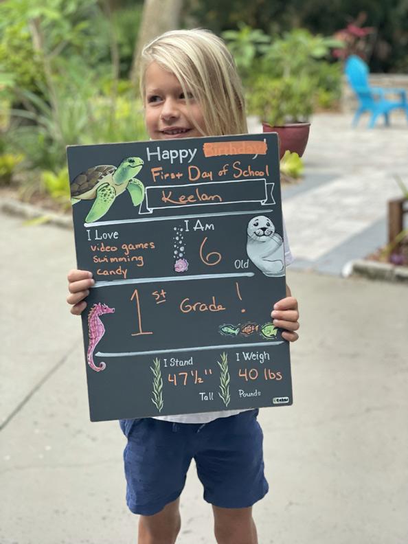 back to school milestone chalkboard
