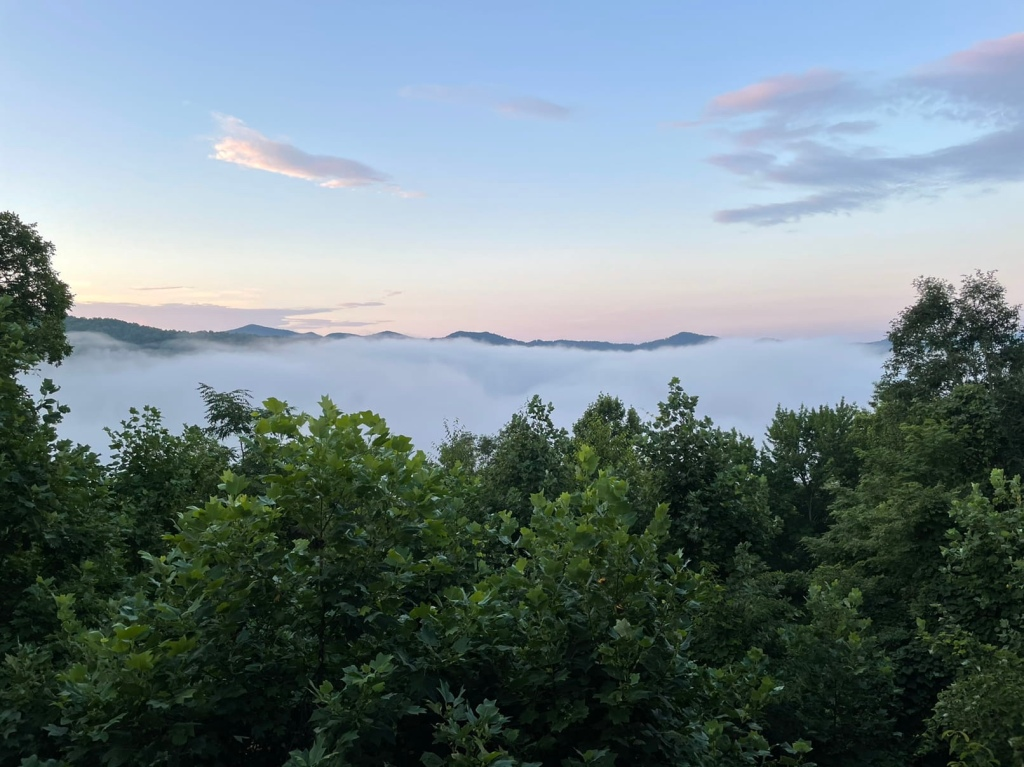 Smoky Mountain view in Bryson City