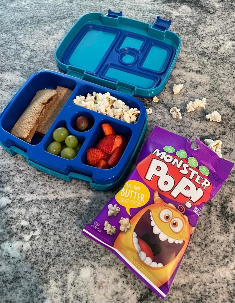 Monster Pop Big Time Popcorn for lunch