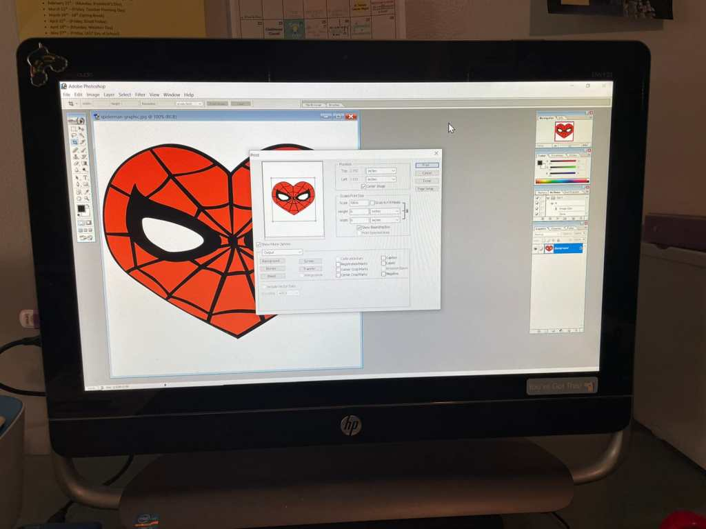 Spider-man heart logo for Mary Jane cosplay