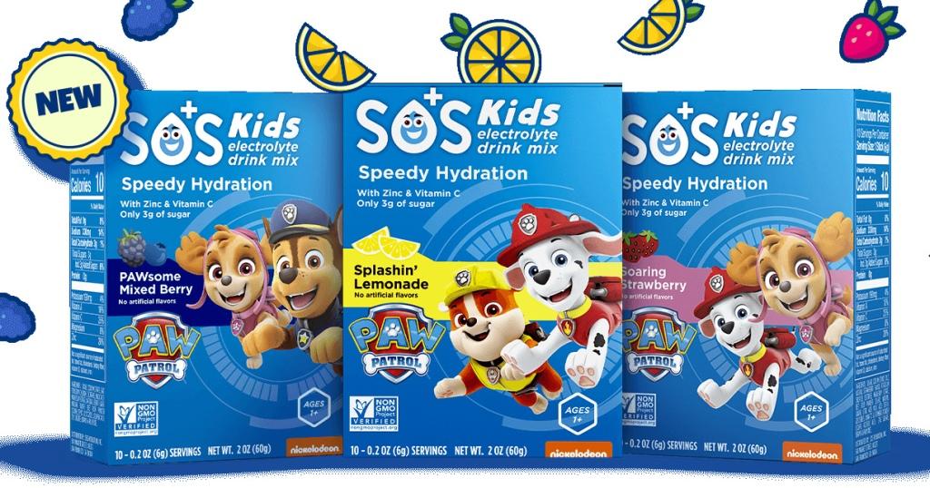 sos hydration paw patrol for kids