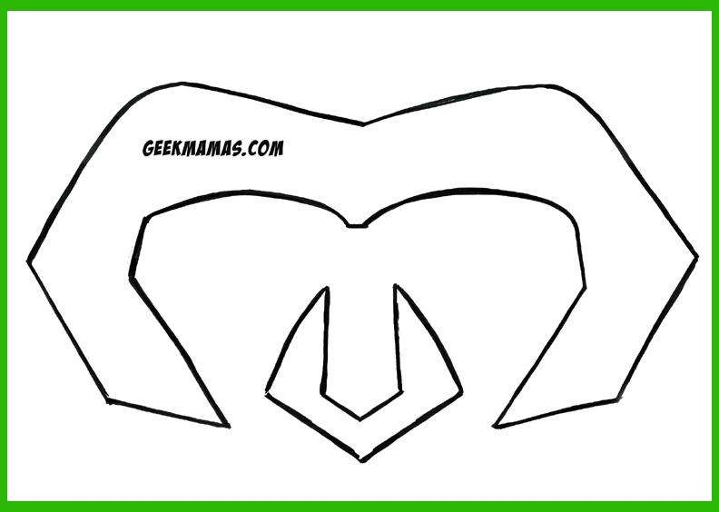 Free Loki helmet template and tutorial