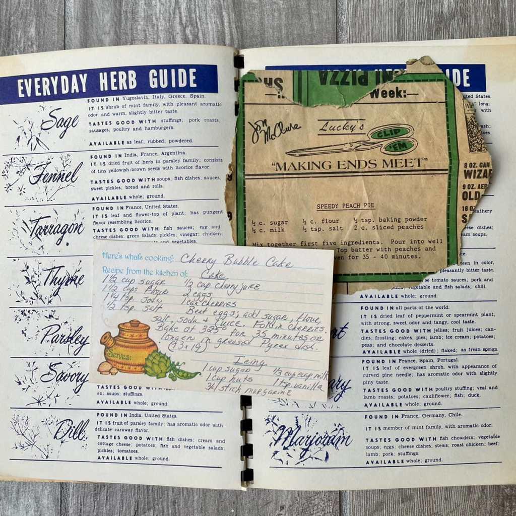 grandmother's cookbook